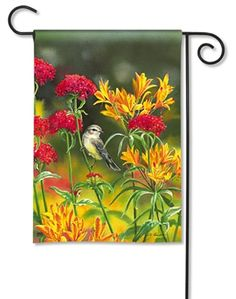 Summer #Flowers Garden Flag.  100% All-Weather Polyester. Fade and Mildew Resistant. Machine washable. #gardenflag #flag