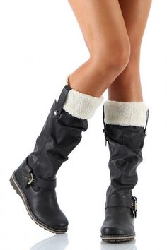 Cozy knee high boots!