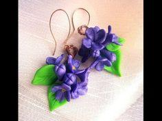 "Polymer clay tutorial/Walkthrough - ""Lilac Flowers""- Earrings"