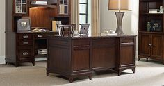 Budget, Commercial, Heirloom: Traditional Executive Desk // Inspiration from the NBF Network
