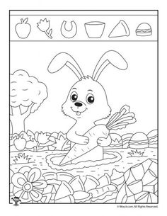 Rabbit Hidden Picture Puzzle Source by Hidden Pictures Printables, Highlights Hidden Pictures, Rabbit Hide, Hidden Picture Puzzles, Super Cute Animals, Hidden Objects, Puzzles For Kids, Preschool Activities, Coloring Pages