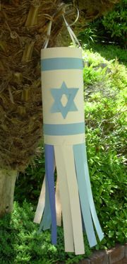 Sukkot Recipes and Crafts - Like the windsock!-has rice stuffed grape leaves and moussaka-and more