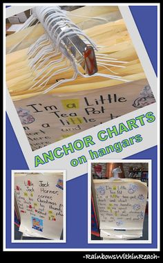 Anchor Chart Organization System: Hangers - this is pretty brilliant