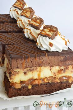 Delicious Cookie Recipes, Easy Cookie Recipes, Sweets Recipes, Yummy Cookies, Snickers Cheesecake, Snickers Cake Recipes, Torte Recipe, Sweet Cooking, Torte Cake