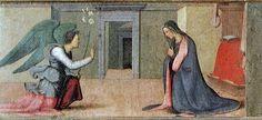 Albertinelli, annunciazione - Predella della Visitazione  conservato negli Uffizi di Firenze.