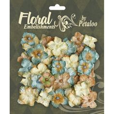 Petaloo Chantilly Collection - Mixed Velvet Hydrangea - Blue