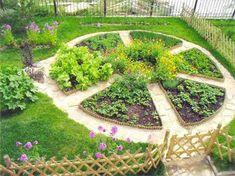 DIY vegetable, herb and flower garden design ideas in 76 amazing images - Garden layout ideas - Blumen Garden Cottage, Garden Beds, Garden Art, Amazing Gardens, Beautiful Gardens, Culture D'herbes, Design Jardin, Flower Garden Design, Garden Design Plans