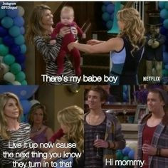 The twins suck in some helium from the balloons to make their voices squeaky. Lovely really Full House Memes, Full House Funny, Full House Quotes, Best Tv Shows, Best Shows Ever, Movies And Tv Shows, Full House Tv Show, Full House Cast, Dj Tanner