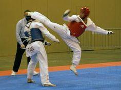 hook kick to the back of the head, potential knock out, definite score!