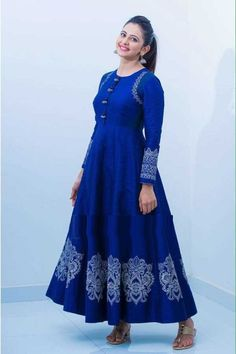 Indian Designer Outfits, Indian Outfits, Designer Dresses, Casual Dresses, Fashion Dresses, Stylish Dresses, Blue Dresses, Online Shopping, Indian Gowns Dresses