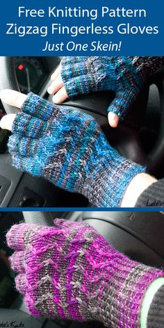 One Skein Fingerless Mitts Knitting Patterns - In the Loop Knitting Beginner Knitting Patterns, Knitting Projects, Knitting Ideas, Knitting Yarn, Free Knitting, Crochet Baby Shoes, Crochet Lace, Fingering Yarn, Fingerless Gloves Knitted