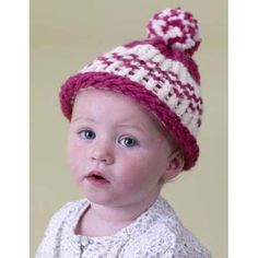 Knifty Knitter Fair Isle Cap Lion Brand Wool-Ease Thick & Quick - 60419   Knitting Patterns   LoveKnitting