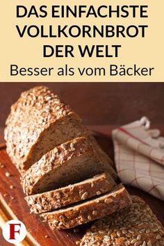 Simple Whole Grain Bread Recipe - Healthy and Without Wheat-Einfaches Vollkornbrot Rezept – Gesund und ohne Weizen Baking your own bread is easy with this wholemeal bread recipe. Check out the instructions for healthy bread without wheat here. Healthy Food Tumblr, Healthy Food Quotes, Healthy Bread Recipes, Baking Recipes, Wholemeal Bread Recipe, Wheat Bread Recipe, Health Smoothie Recipes, Health Desserts, Health Foods