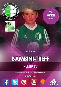 Wir nehmem am 25. April um 10 Uhr am Bambini-Treff beim Hülser SV teil.