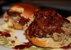 Bbq Pulled Pork and Chipotle Onion Sandwiches by Aggie's Kitchen