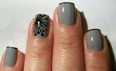 Gray & Black. I can do this with my nail polish pen.