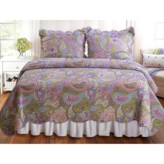 Portia Paisley 3-piece Quilt Set | Overstock.com Shopping - The Best Prices on Kids' Quilts