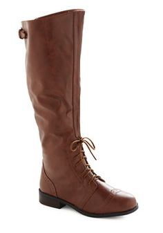 Chocolate Run Boot Gorgeous boot,I could see Katherine Hepburn wearing it *A* #modcloth #styleicon