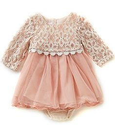 Bonnie Baby Baby Girls Newborn-24 Months Lace Popover to Tulle Dress Baby Girl Fashion, Fashion Kids, Fashion Clothes, Fashion Shirts, Dress Fashion, Fashion Outfits, Winter Fashion, Dress Clothes, Girl Clothing