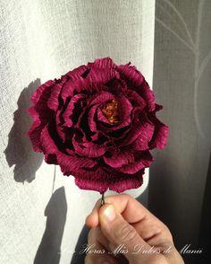 peonía de papel crepe; flores de papel; crepe paper peony; paper flowers