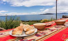 Sopa de Quinoa en el lago Titi Caca en Perú