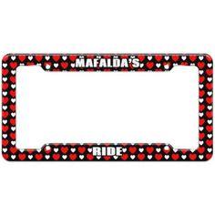 Mafalda's Ride - Plastic License Plate Frame