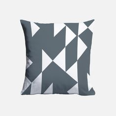Fashioned from cotton twill, this cushion cover features a grey and white geometric print. Geometric Cushions, Grey And White, Decorative Accessories, Throw Pillows, Cover, Cotton, Toss Pillows, Cushions, Decorative Pillows