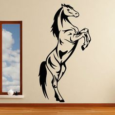 DCTOP Vintage Home Decor Animal Wall Decal Removable Vinyl Self Adhesive Horse Wall Sticker Living Room Bedroom Decoration #Affiliate