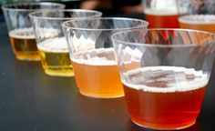 Granted, Oktoberfest celebrations are probably done but that didn't stop us from having a beer tasting! Wine Glass, Chicago, Party Ideas, Events, Drink, Fall, Tableware, Recipes