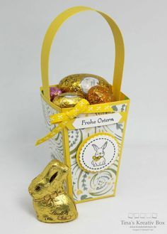 Osterkörbchen alias Popcorn Schachtel - mit Produkten von Stampin' Up!