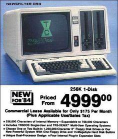 Vintage computer advertisement - 15 MB hard disk built in!!