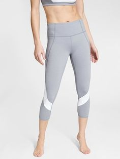 Colorblock Mesh Salutation Capri | Athleta