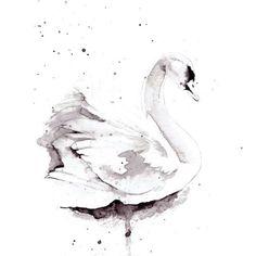 Swan inspiration for artwork in girl's room