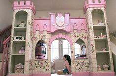 little girls, dream, playroom, princess theme, kid rooms, window seats, kid roomgirl, play beds, girl rooms