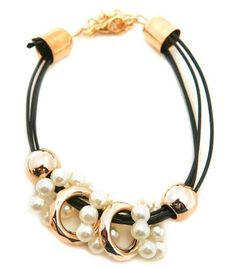 Gold, Corded Charm Bracelet Price $5.50