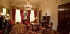 The Richard and Gloria Manney Greek Revival Parlor, furniture by Duncan Phyfe.  American Greek Revival, American Empire.