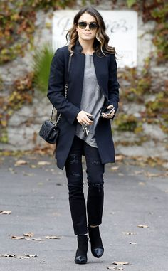 Nikki Reed is the picture of fall chic in this super cute outfit! How much do you love that blazer?