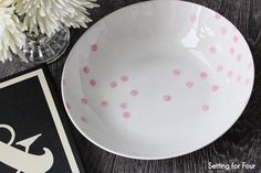 How to Make a Confetti Pattern Bowl #diy