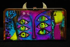 One of a kind , Gold leaf ,gold chain ,eye catching clutch Size : 11x 5 1/2""