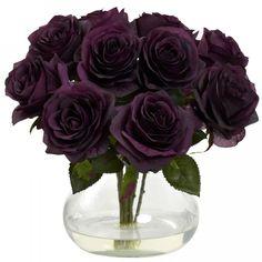 Rose Arrangement With Vase (Purple Elegance)
