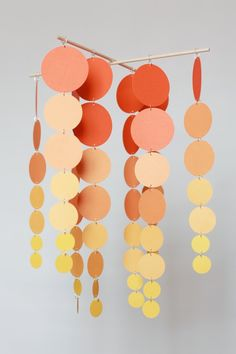 DIY mobile with paint samples.