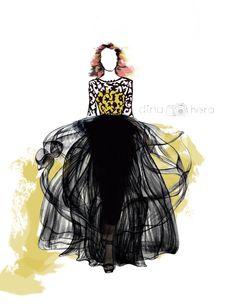 Brukat Layer Gown by Farah Dina Hera #brukat #layer #gown