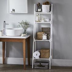 Bathroom Lacquer Ladder Shelf