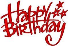 Freebie of the day! Happy Birthday machine embroidery design