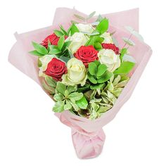A bouquet of beautiful roses can take anyone's breath away! This magical combination of passionate red roses and pure white roses will certainly make any occasion more special for the people you love. Online Flower Delivery, Flower Delivery Service, Same Day Flower Delivery, White Roses, Red Roses, Early May Bank Holiday, Hand Tied Bouquet, Mothers Day Flowers, Most Beautiful Flowers