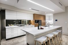 Designed by Greg Davies Architects, Built by Urbane Projects Greg Davies, Luxury Homes, Architects, Contemporary, Kitchen, Projects, Furniture, Design, Home Decor