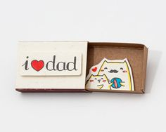 Father's Day Card I 3 Dad Matchbox/ Gift box / Message por Unique Gifts For Dad, Personalized Gifts For Dad, Best Dad Gifts, Fathers Day Gifts, Matchbox Crafts, Matchbox Art, Fathersday Crafts, Funny Love Cards, Diy Cadeau