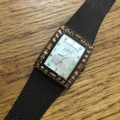 Brown Mesh Skagen Mother of Pearl Watch Watch is fully functioning and band is in pristine condition. Skagen Accessories Watches