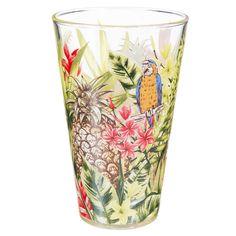 Hoog glas in glas JUNGLE   - Verkocht per 6
