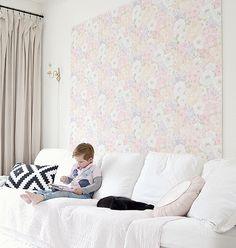 DIY-Anleitung: Wandschmuck aus MDF-Platte und Mustertapete selber machen via DaWanda.com